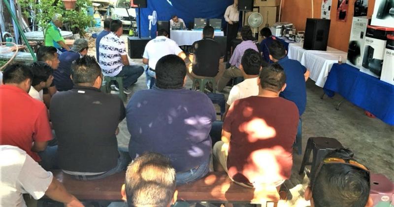 Demostración de Electro – Voice en Ciudad del Carmen